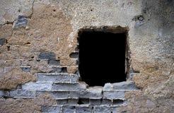 Brown knackte Fenster Lizenzfreie Stockbilder