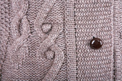 Brown knitted fabric Royalty Free Stock Photo