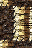 Brown knitted fabric Royalty Free Stock Photos
