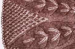 Brown knitted fabric Stock Photos