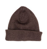 Brown knitted hat isolated Royalty Free Stock Photos