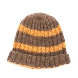 Brown knitted head cap isolated Royalty Free Stock Photo