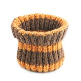 Brown knitted head cap isolated Stock Photos