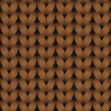 Brown knitted seamless pattern Royalty Free Stock Photography