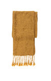 Brown knitted winter scarf on a white isolate with clipping path Stock Image