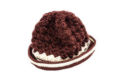 Brown knitted wool hat Stock Photography