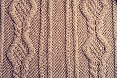 Brown knitted  woolen Royalty Free Stock Image