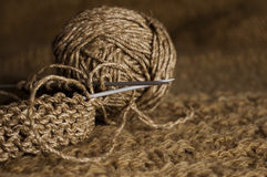 Brown knitting Royalty Free Stock Photography