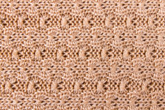 Brown Knitting or Knitted Fabric Texture Pattern Background Royalty Free Stock Photos