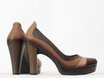 Brown kobiet buty zdjęcia royalty free