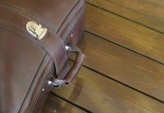 Brown-Koffer Stockfotografie