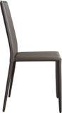 Brown koloru biurowy rzemienny krzesło Nowożytny projektanta krzesło dla wnętrza Odizolowywający na bielu Fotografia Royalty Free