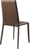 Brown koloru biurowy rzemienny krzesło Nowożytny projektanta krzesło dla wnętrza Odizolowywający na bielu Zdjęcia Stock