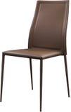 Brown koloru biurowy rzemienny krzesło Nowożytny projektanta krzesło dla wnętrza Odizolowywający na bielu Obrazy Royalty Free