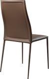 Brown koloru biurowy rzemienny krzesło Nowożytny projektanta krzesło dla wnętrza Odizolowywający na bielu Obraz Royalty Free