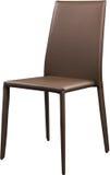 Brown koloru biurowy rzemienny krzesło Nowożytny projektanta krzesło dla wnętrza Odizolowywający na bielu Zdjęcia Royalty Free