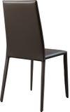 Brown koloru biurowy rzemienny krzesło Nowożytny projektanta krzesło dla wnętrza Odizolowywający na bielu Fotografia Stock