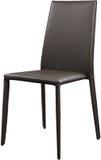 Brown koloru biurowy rzemienny krzesło Nowożytny projektanta krzesło dla wnętrza Odizolowywający na bielu Obraz Stock
