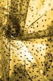 brown koronka na białym tle Przedstawia odkrywczość koronka m fotografia stock