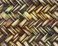 Brown Koszykowy Wyplata Textured tło Zdjęcia Royalty Free