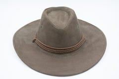 Brown kowbojski kapelusz Fotografia Royalty Free