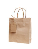 Brown kraft paper bag for gift Royalty Free Stock Image