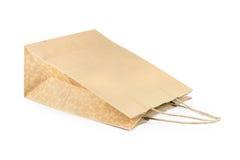 Brown kraft paper bag Royalty Free Stock Images