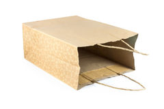 Brown kraft paper bag Royalty Free Stock Photos