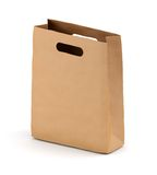 Brown kraft paper bag Stock Image