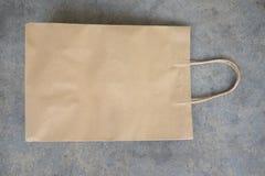 Brown kraft paper bag for shopping Stock Photo