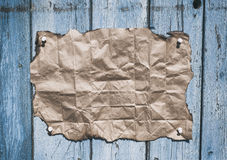 Brown kraft paper with burnt edges Royalty Free Stock Photography