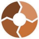 Brown-Kreis Infographic vier Schritte Lizenzfreies Stockfoto