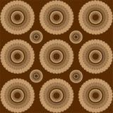 Brown-Kreise Lizenzfreie Stockfotografie