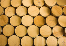 Brown kursuje drewno dla tła Zdjęcie Stock