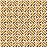 Brown kwadraty okręgi Obrazy Royalty Free