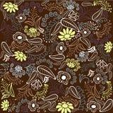 Brown kwiatu wzór Ilustracja Wektor