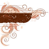 brown kwiecisty stonowany tła Ilustracja Wektor