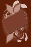 brown kwiecisty tła Fotografia Stock