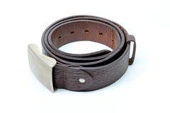 Brown läderbälte Royaltyfria Foton