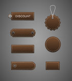 Brown labels. Royalty Free Stock Image