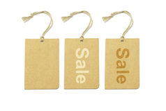 Brown labels with strings Stock Photo