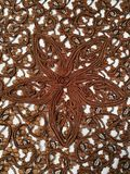 Brown lace background Royalty Free Stock Images
