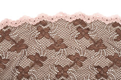 Brown lace fabric Royalty Free Stock Photography