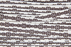 Brown Lace Fabric texture Royalty Free Stock Photo