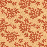 Brown lace floral seamless pattern on yellow Stock Image