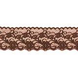 Brown lace ribbon Stock Photo