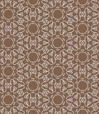 Brown lace seamless pattern. Royalty Free Stock Photo