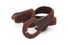 Brown ladies belt Stock Images