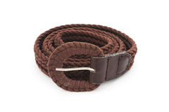 Brown ladies belt Stock Image