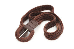 Brown ladies belt Stock Images